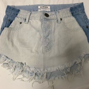 NWOT One Teaspoon Mini Skirt